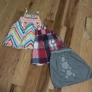 Lot of 3 dresses (24mo & 2t)